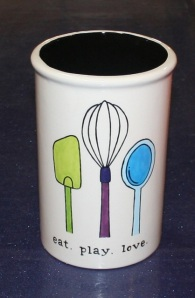 Eat Play Love Utensil Holder class at Half Baked Pottery